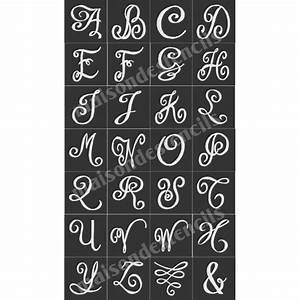 chalk board hand lettered style capital alphabet 28 small With chalk stencils letters