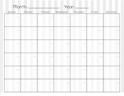 sample calendars  print activity shelter
