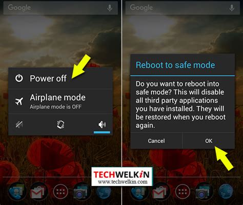 android phone safe mode android safe mode restart phone or tablet and troubleshoot