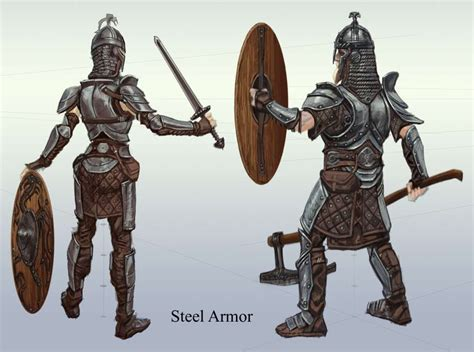 Steel Armor 00 Concept Art From The Elder Scrolls V