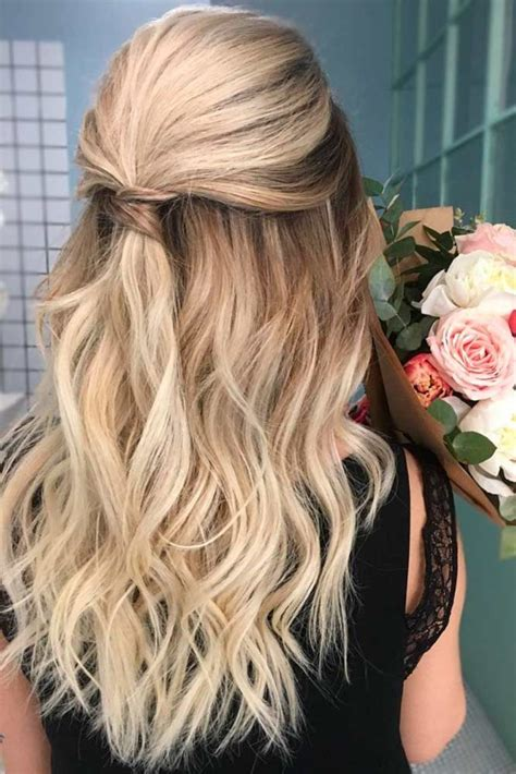 Half Up Half Formal Hairstyles For Hair by Try 42 Half Up Half Prom Hairstyles Prom Hair
