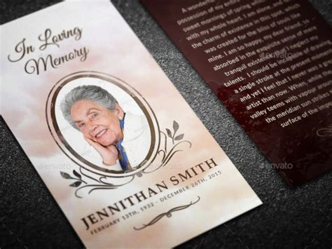funeral prayer card templates  psd word