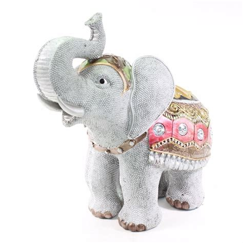 elephant home decor feng shui 10 quot gray elephant trunk statue lucky figurine