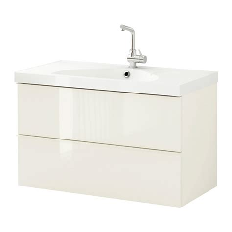 godmorgon edeboviken sink cabinet with 2 drawers high