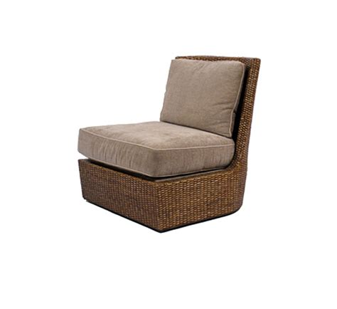 palisades slipper chair wicker material indoor