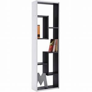 Bibliothèque Noire Ikea : meuble biblioth que 3 et 2 cases noir et blanc demeyere ~ Teatrodelosmanantiales.com Idées de Décoration