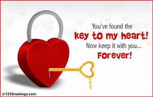 Key To My Heart : found the key to my heart free new love ecards greeting cards 123 greetings ~ Buech-reservation.com Haus und Dekorationen