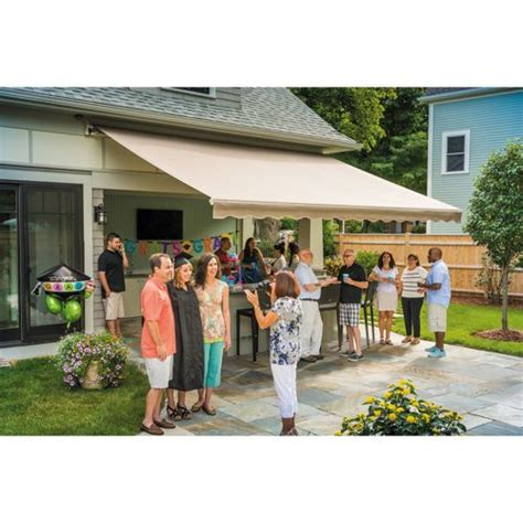 sunsetter manual motorized  xl retractable awnings retractable awning patio awning awning
