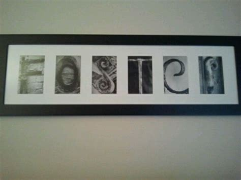 Hobby Lobby Wall Decor Letters by Diy Last Name Framed Letter Pictures Found At Hobby