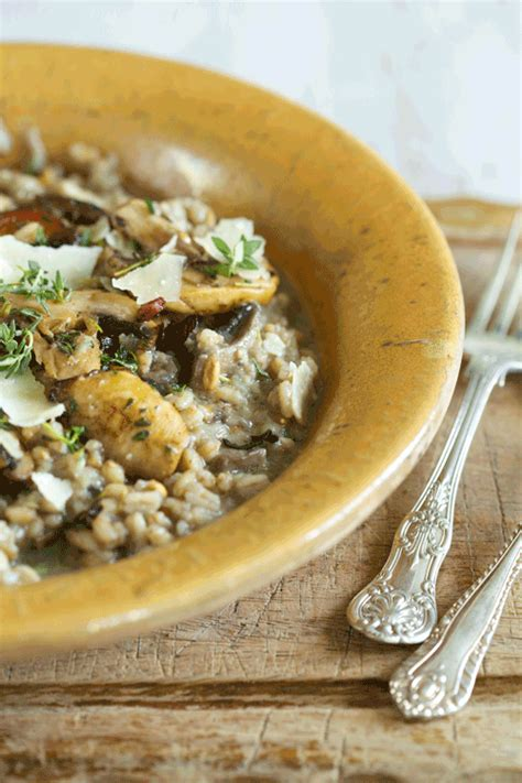 Double Mushroom Spelt Risotto  Main Dishes