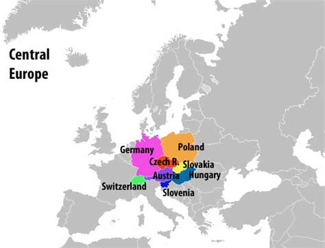 map  central europe map  europe europe map