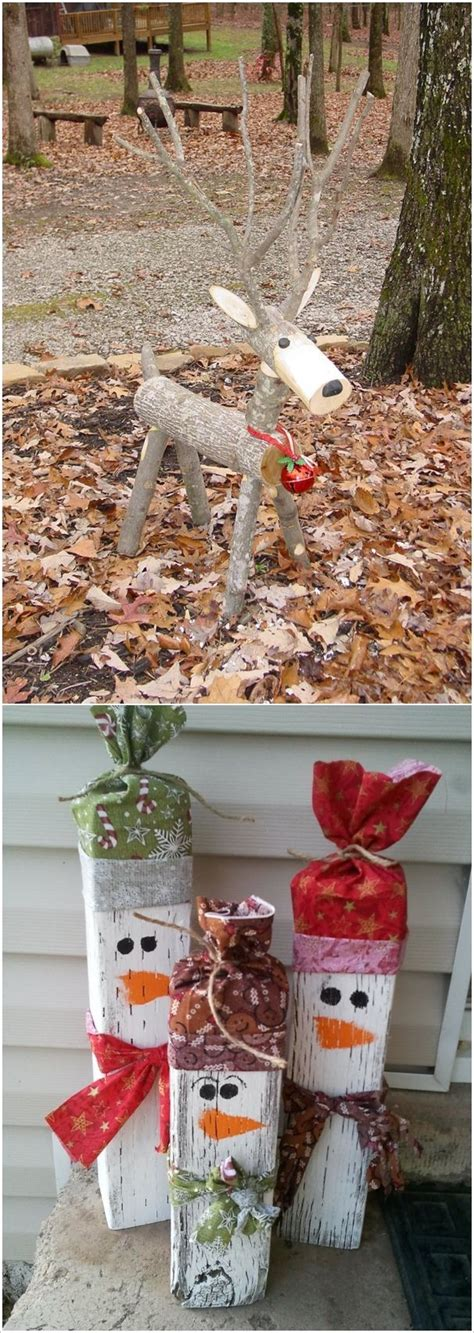 wooden diy outdoor winter  christmas decorations