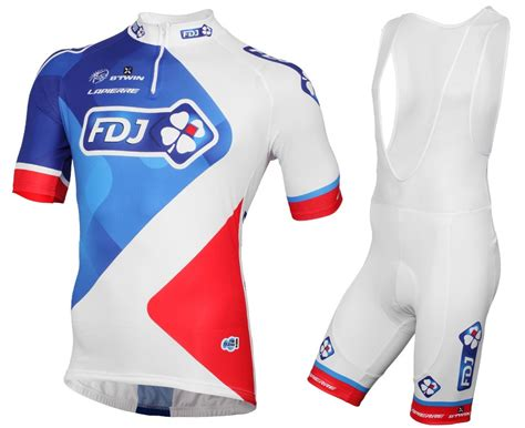 si e fran ise des jeux 2015 fdj team cycling jersey and bib shorts