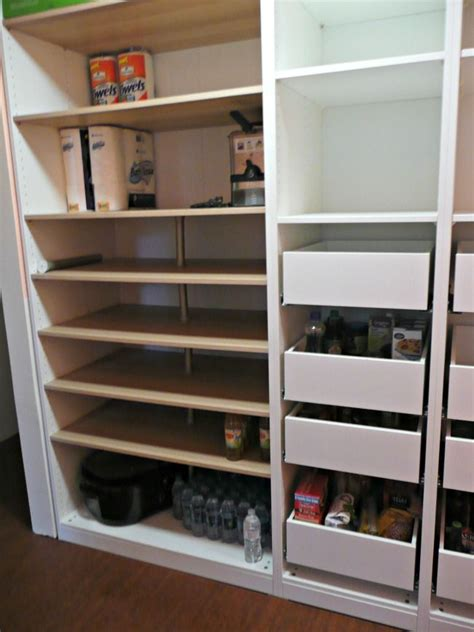 ikea pax units  komplement drawers   pantry