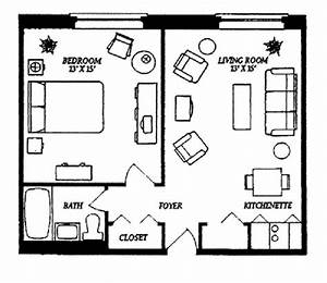 25 best ideas about studio apartment floor plans on With small 1 bedroom apartment layout