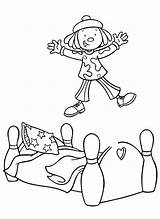 Coloring Jump Jojo Circus Designlooter sketch template