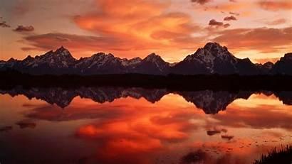 Sunset Mountain Wallpapers Resolution Mountains Desktop Snowy