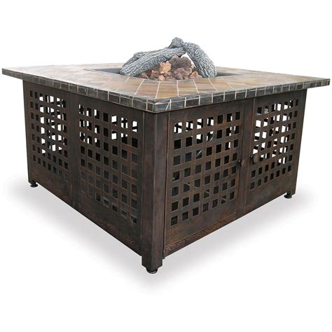 Gas L Mantles Outdoor by Uniflame 174 Lp Gas Outdoor Firebowl With Granite Mantel