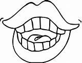 Coloring Lips Lip Skin Dental Colors Wecoloringpage Makeup sketch template