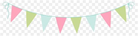 bunting tea party clip art   transprent