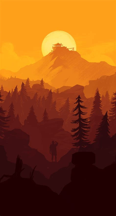 Fallout Wallpaper Iphone Xr by Firewatch Wallpaper For Iphone And Desktop