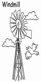 Windmill Farm Coloring Stuff Windmills Colorful sketch template