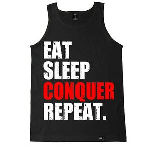 eat sleep conquer repeat crossfit workout lifting running tank top
