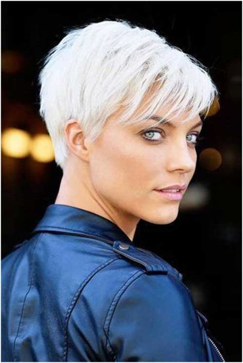 Cool Hairstyle Pics by Cool Platinum Pixie Haircut For Thin Hair Ideas Is The