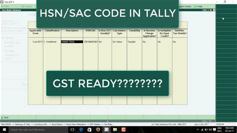 The code in polybattle is available here for you to use. HOW TO ENTER HSN CODE IN TALLY ERP9. TALLY ME HSN CODE KAISE DALE. - YouTube