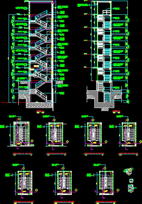 steel staircase dwg block  autocad designs cad