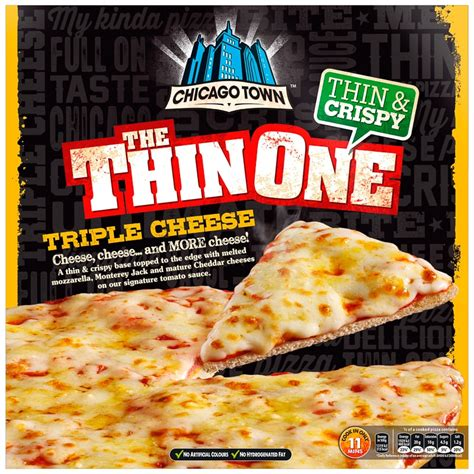 chicago town  thin  triple cheese pizza