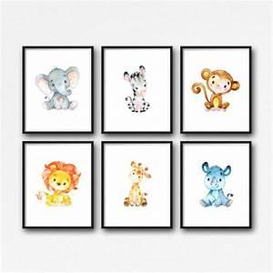 Tierbilder Für Kinderzimmer : tiere kinderzimmer kunst druckbare dschungel tiere kinderzimmer deko pinterest ~ Sanjose-hotels-ca.com Haus und Dekorationen