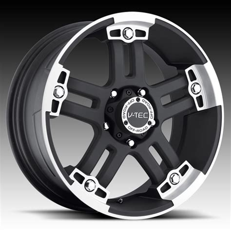 v tec 394 warlord 17 x 8 5 inch rims matte black with