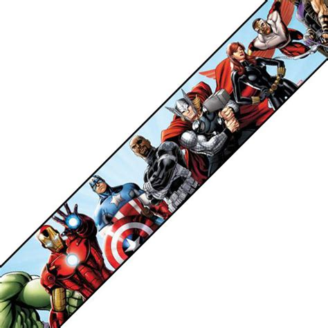 marvel prepasted wall border book accent contemporary wallpaper by obedding