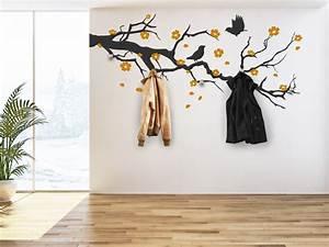 Baum Als Garderobe : wandtattoo garderobe bl tenzweig mit kischbl ten ~ Buech-reservation.com Haus und Dekorationen