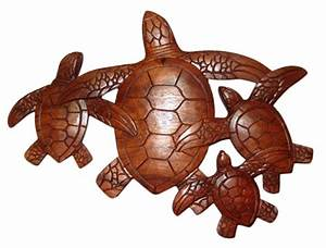 HONU OHANA HAND CARVED WOODEN WALL PLAQUE