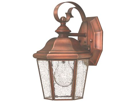hinkley lighting clifton antique copper outdoor wall