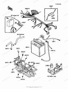 Kawasaki Atv 1986 Oem Parts Diagram For Chassis Electrical