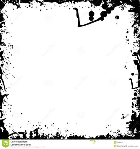 Black And White Ink Splash Stock Vector Image Of