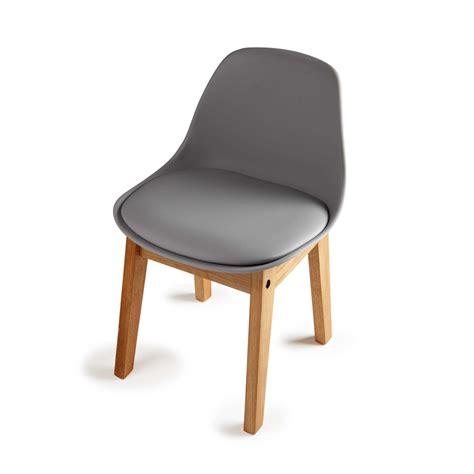 chaises enfants chaise enfant en polypropylène et chêne grise
