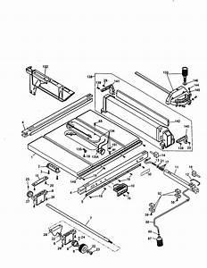 Dewalt Model Dw744 Type 1 Table Saw Genuine Parts