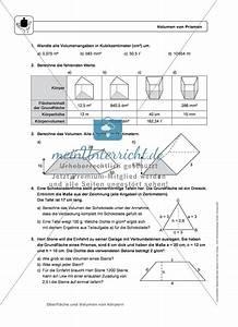 Auflagerkräfte Berechnen übungen Mit Lösungen : k rper oberfl che und volumen von prismen infotexte ~ Themetempest.com Abrechnung