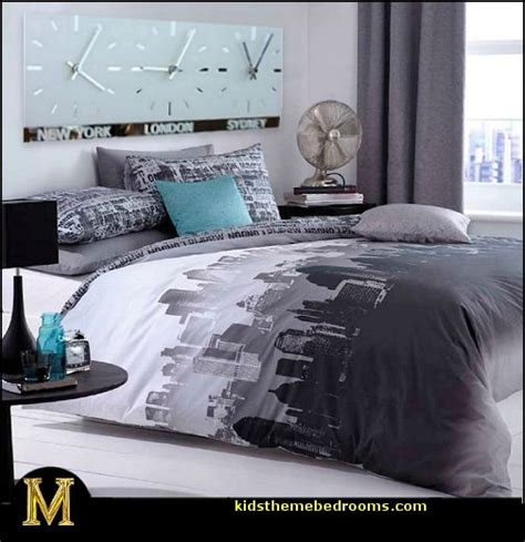 themed decor for bedroom catherine lansfield city scape travel themed bedroom