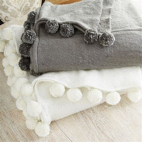 moroccan pom pom blanket bedroom home goods maison
