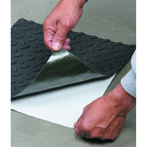 adhesive tile mat 12 in x 12 in self adhesive rubber safety mat with tread