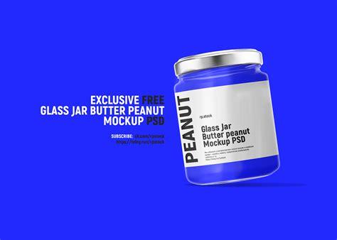 3d modeling and photoshop workflow. rpstock Glass Jar Butter Peanut Mockup PSD free on Behance