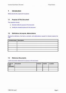 functional specification document template With functional specification document template