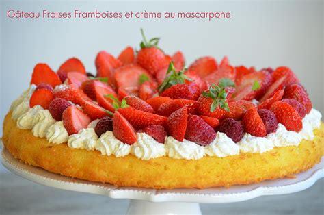 recette de cuisine au four gâteau fraises framboises sur crème au mascarpone fouettée kkvkvk 56 le de c 39 est