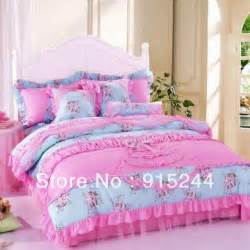 princess bed skirt 4 pcs set 100 cotton bedding size bedding rustic lace kit