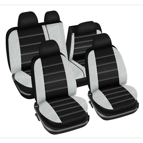jeu complet de housses universelles voiture norauto fast noires et blanches sp 233 cial berline